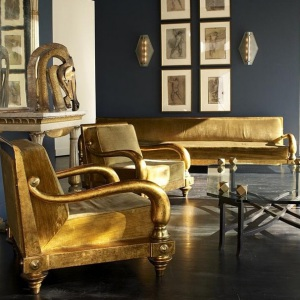 BLACK AND GOLD INTERIORS