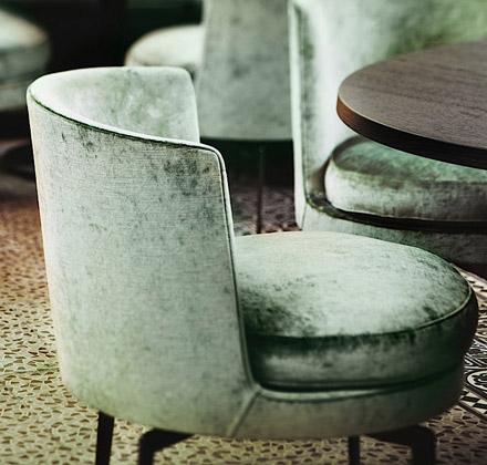 on trend velvet interiors. Black Bedroom Furniture Sets. Home Design Ideas