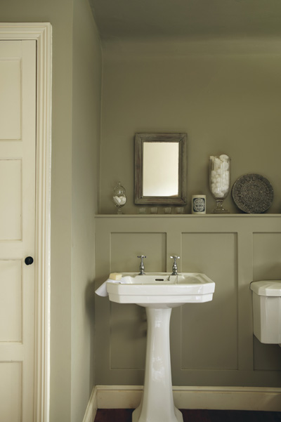 On trend guilford green for Green and gray bathroom designs