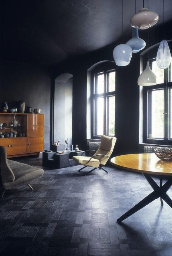 Dark decor for Dark grey interior