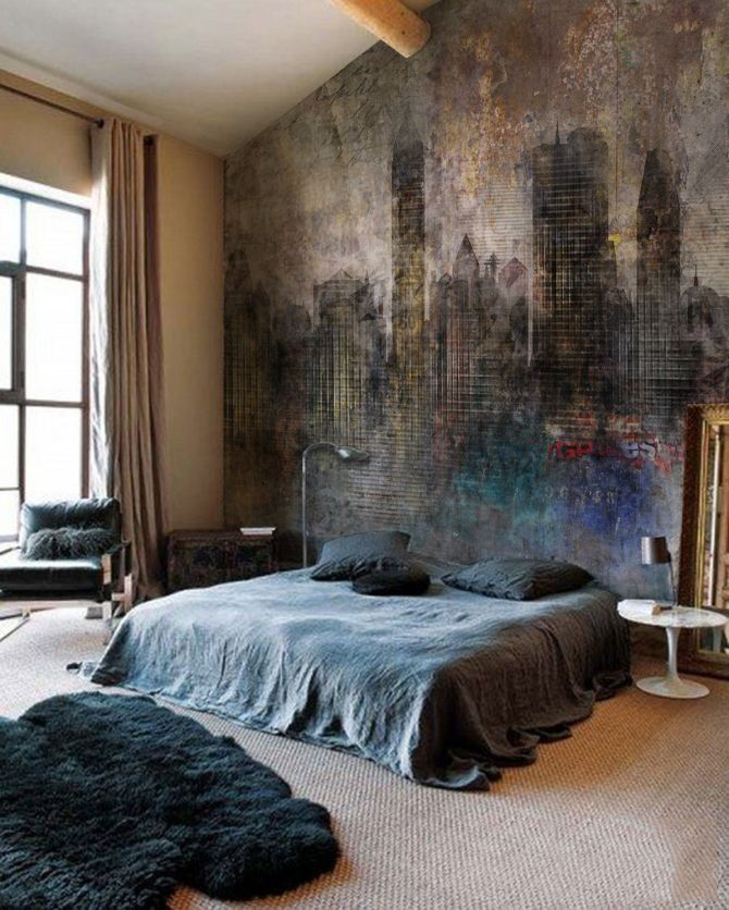 Dark bedrooms for the dark season for Bedroom ideas industrial