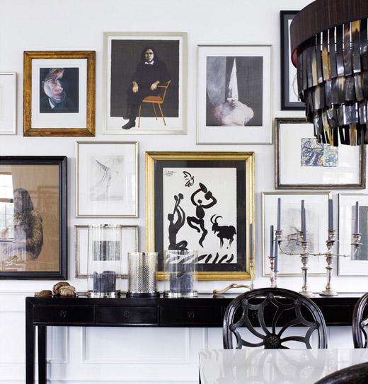 Day Birger Mikkelsen Diningroom Black And White Gallery Wall Via Erika Brechtel